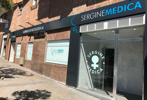 Fachada de la Clínica Sergine Médica de Madrid