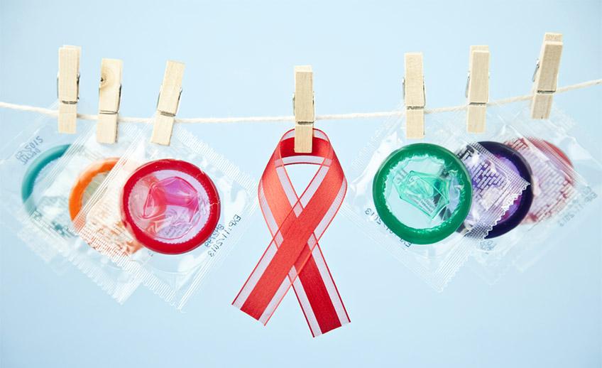 Condones para prevenir el SIDA como enfermedad venérea