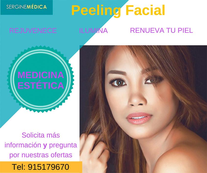 Medicina estética de peeling facial
